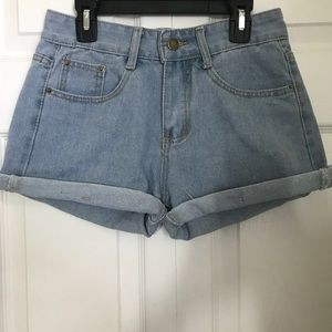 Pants - Light wash vintage jean shorts